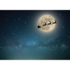 Santa Reindeer Moon Backdrop