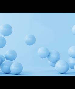 Blue Balloons Cake Smash Backdrop