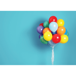 Bright Balloons Cake Smash Backdrop