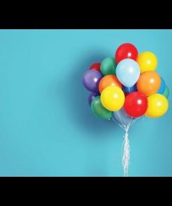 Bright Balloons Cake Smash Backdrop