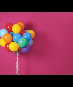 Bright Balloons Pink Cake Smash Backdrop